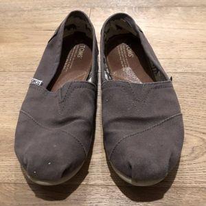 Toms Classic Slip On Shoe - Grey